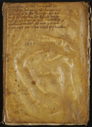 Salbuch des Spitals zum Hl. Geist, Ellwangen, 1492